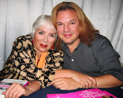 Xaviera with Alan Mercer